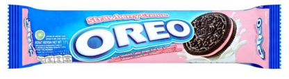 Biscotti Oreo strawberry flavour ( gusto fragola )